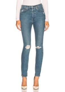 RE/DONE ORIGINALS High Rise Long Skinny