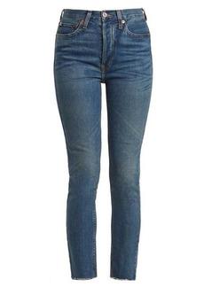 Re/Done Originals High-rise raw-hem cropped jeans