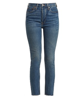 Re/Done Originals High-rise raw-hem cropped jeans