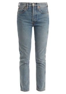 Re/Done Originals High-rise slim-leg cropped jeans
