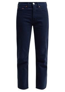 Re/Done Originals High-rise stovepipe corduroy jeans
