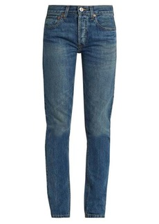 Re/Done Originals High-rise straight skinny-leg jeans