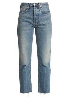 Re/Done Originals Rigid Stove Pipe high-rise jeans