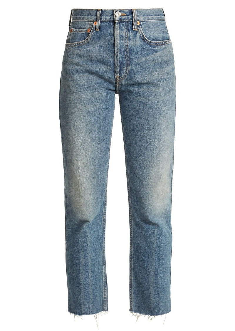 Re/Done Originals Rigid Stove Pipe high-rise jeans