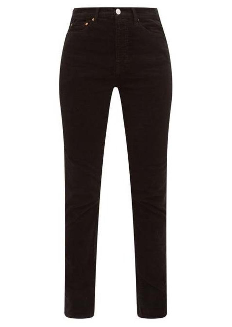 Re/Done Originals Slim-leg cotton-blend corduroy trousers