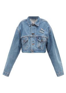 Re/Done Originals X The Attico cropped denim jacket