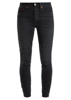 Re/Done Originals Zip-cuff high-rise skinny jeans