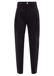 Re/Done Zoot inverted-pleat tapered jeans