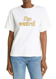 Re/Done Oversized I'm Weird Graphic Tee