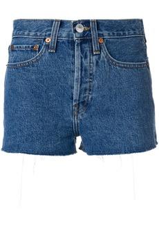 Re/Done raw edge shorts - Blue