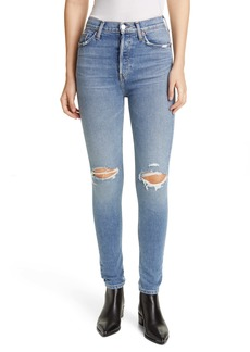 Re/Done Ripped High Waist Skinny Jeans (Fade Away Destroy)