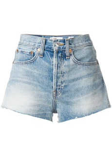 Re/Done The Short raw hem shorts - Blue