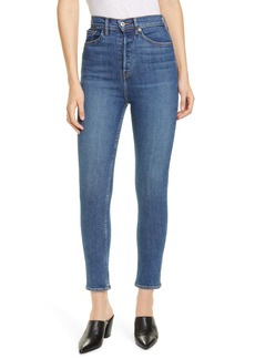 Re/Done Ultra High Rise Ankle Skinny Jeans (Medium Fade)