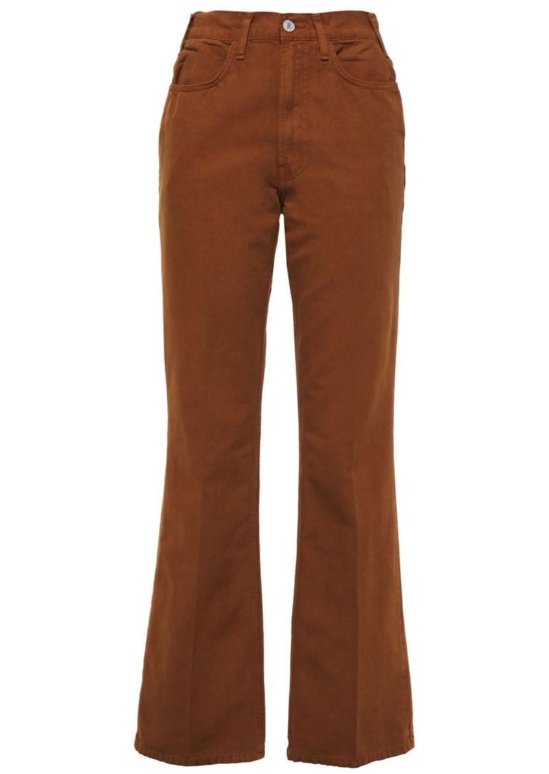 Re/done Woman Cotton-canvas Bootcut Pants Tan