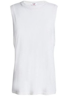 Re/done Woman Cotton-jersey Tank Off-white