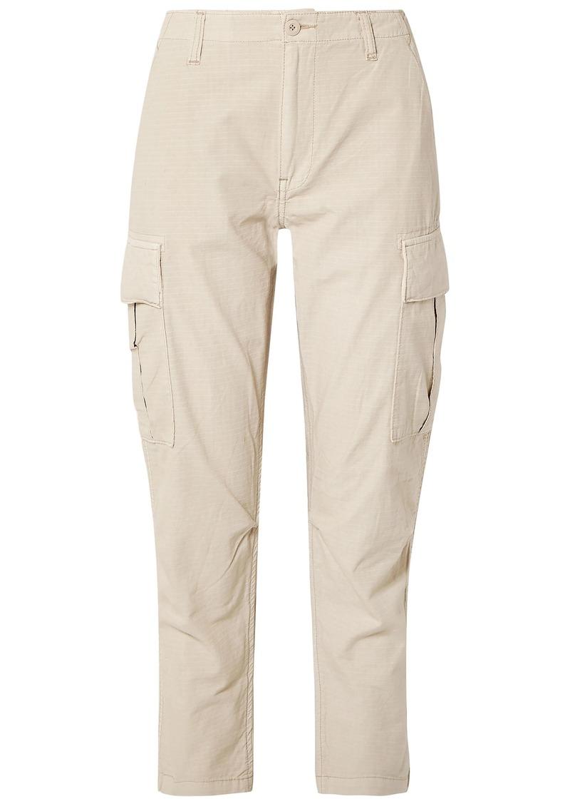Re/done Woman Cotton Straight-leg Pants Neutral