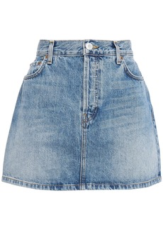 Re/done Woman Faded Denim Mini Skirt Mid Denim