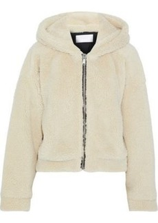 Re/done Woman Faux Shearling Hoodie Cream