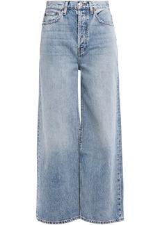 Re/done Woman High-rise Wide-leg Jeans Light Denim