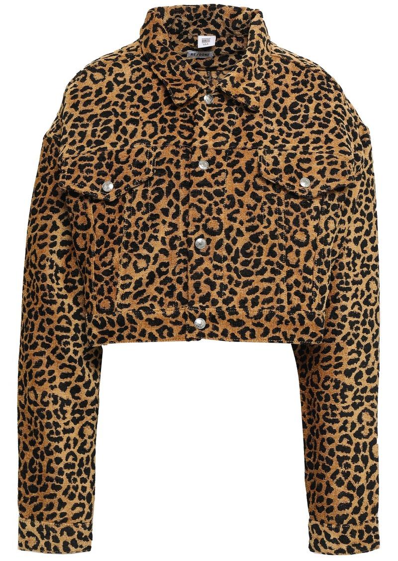 Re/done Woman Leopard-jacquard Jacket Animal Print
