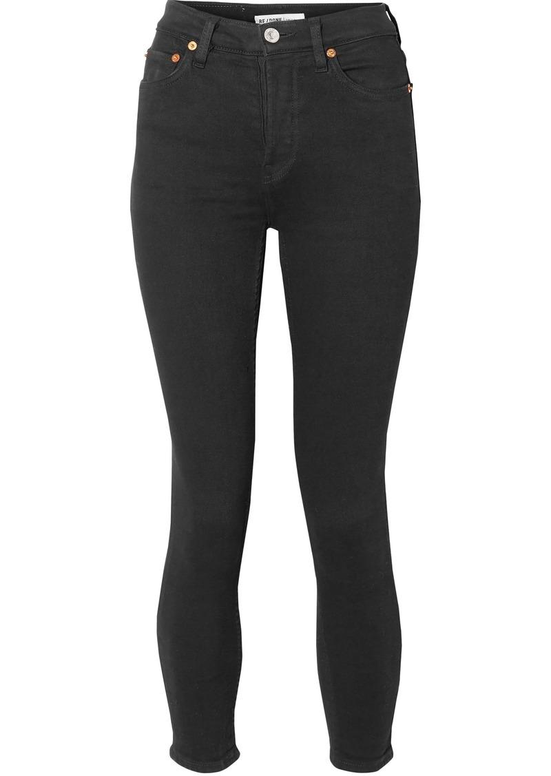Re/done Woman Originals Ultra Stretch High-rise Skinny Jeans Black