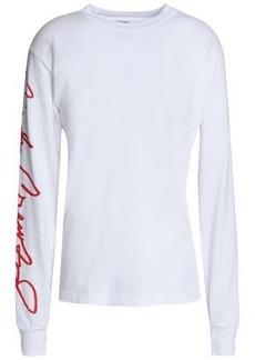 Re/done Woman Printed Cotton-jersey T-shirt White