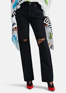 RE/DONE Women's Distressed High-Rise Loose Jeans
