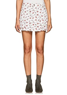 RE/DONE Women's Floral Stretch-Denim Miniskirt