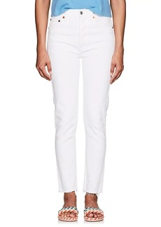 RE/DONE Women's High Rise Ankle Crop Jeans