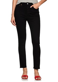 RE/DONE Women's High-Rise Ankle Crop Skinny Jeans