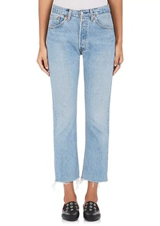 RE/DONE Women's High Rise Crop Flare Levi's® Jeans