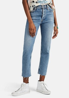 RE/DONE Women's High Rise Stovepipe Jeans