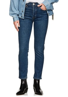 RE/DONE Women's Double Needle Crop Jeans
