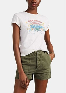 """RE/DONE Women's The Classic """"Empowered Women"""" Cotton T-Shirt"""