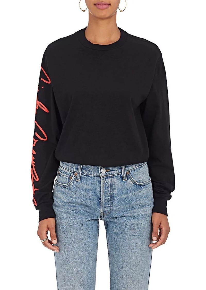 RE/DONE Women's The Crawford Cotton Long-Sleeve T-Shirt