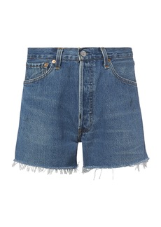 Re/Done Side Zip Shorts