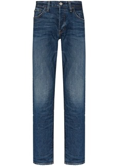 Re/Done faded straight-leg jeans