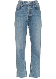 Re/Done Stove Pipe cropped jeans