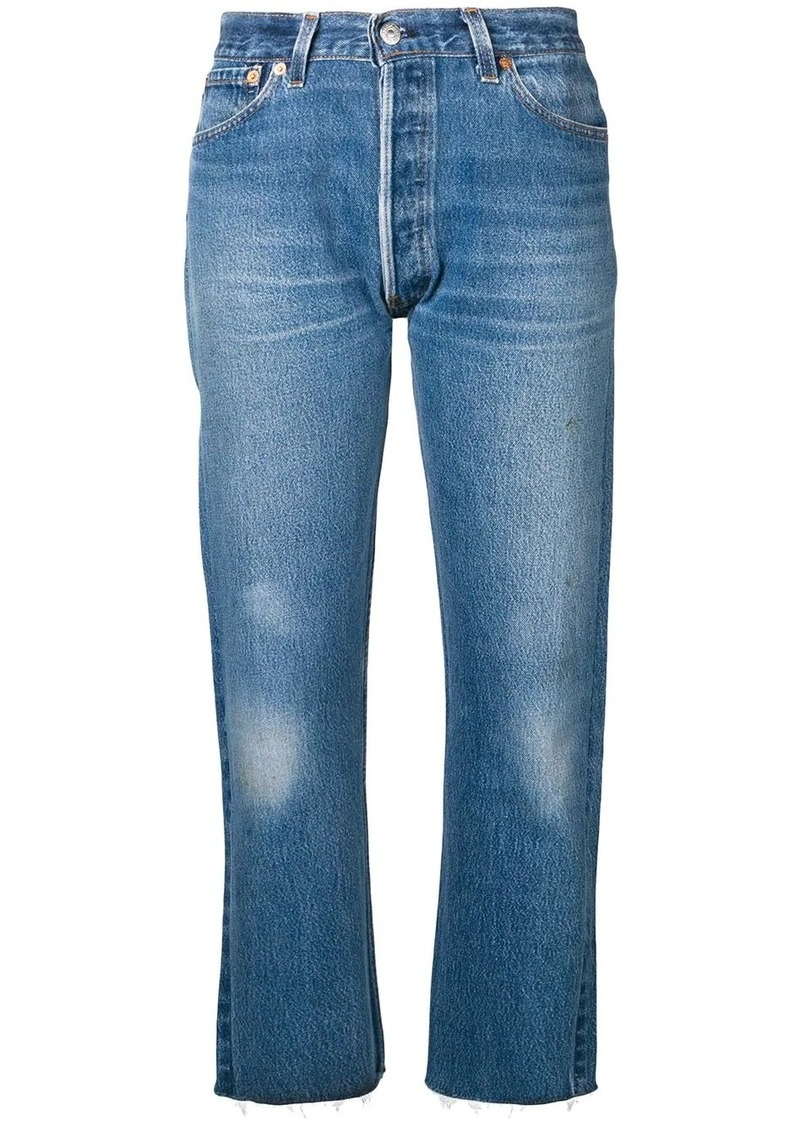 Re/Done Stove pipe denim cropped jeans