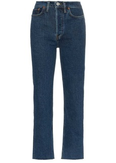 Re/Done Stove Pipe straight leg high-rise jeans
