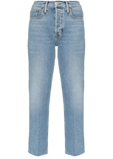 Re/Done Stovepipe high-waist jeans
