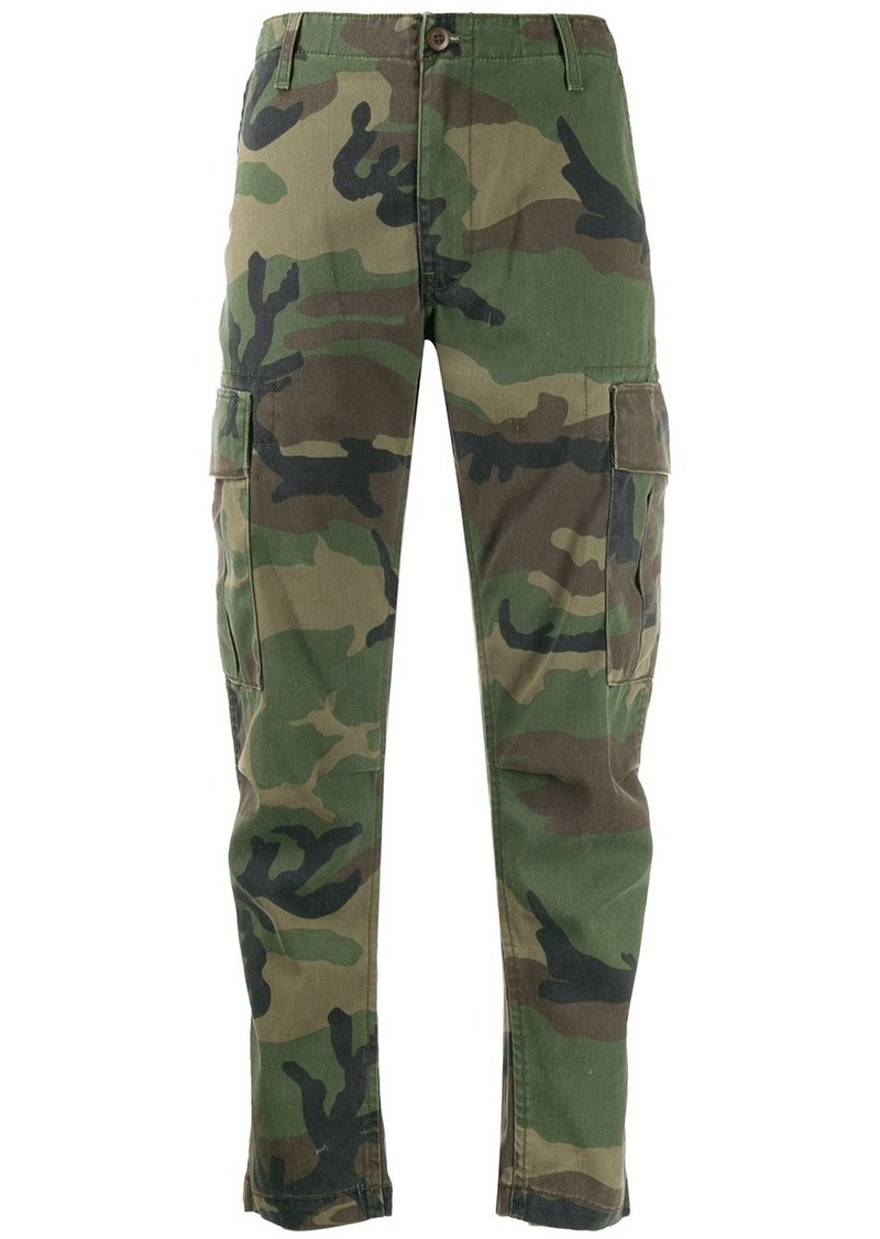 Re/Done straight-leg camouflage cargo pants
