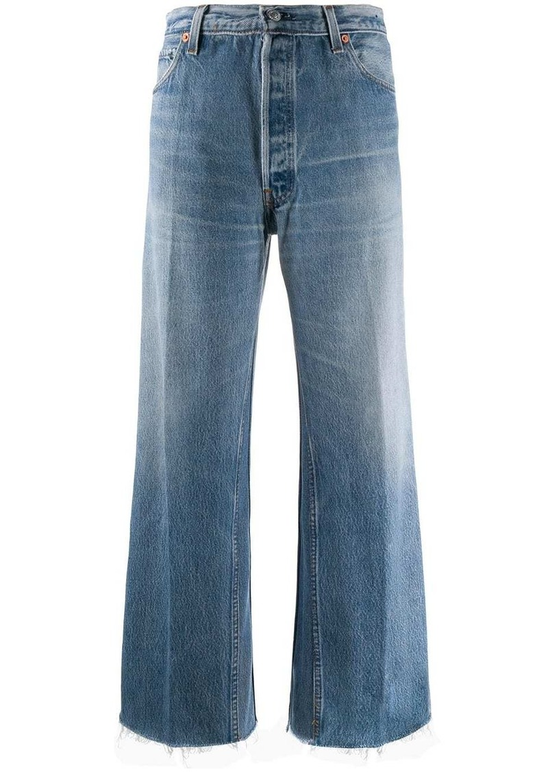 Re/Done straight-leg cropped jeans