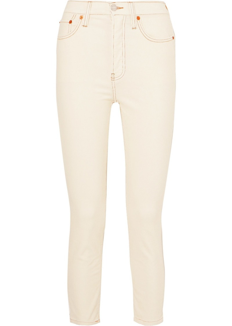 Re/Done Stretch-cotton Corduroy Skinny Pants