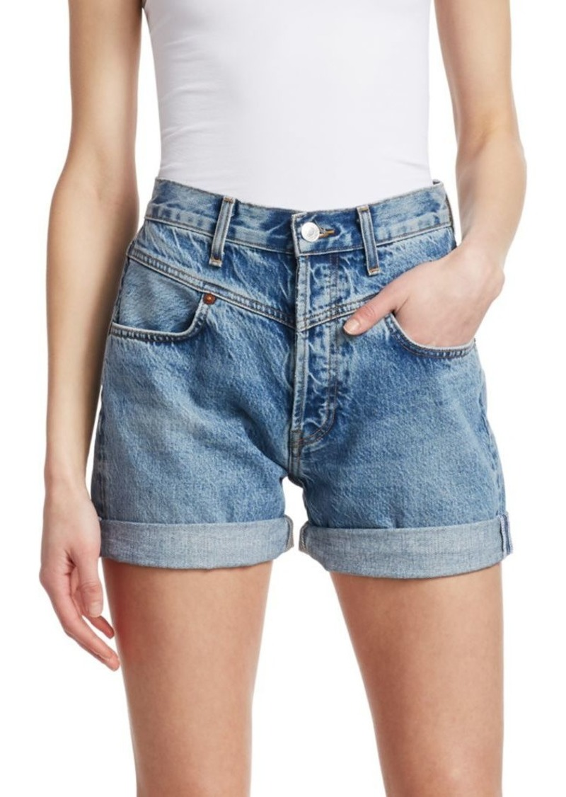Re/Done The 90s Double Yoke Jean Shorts
