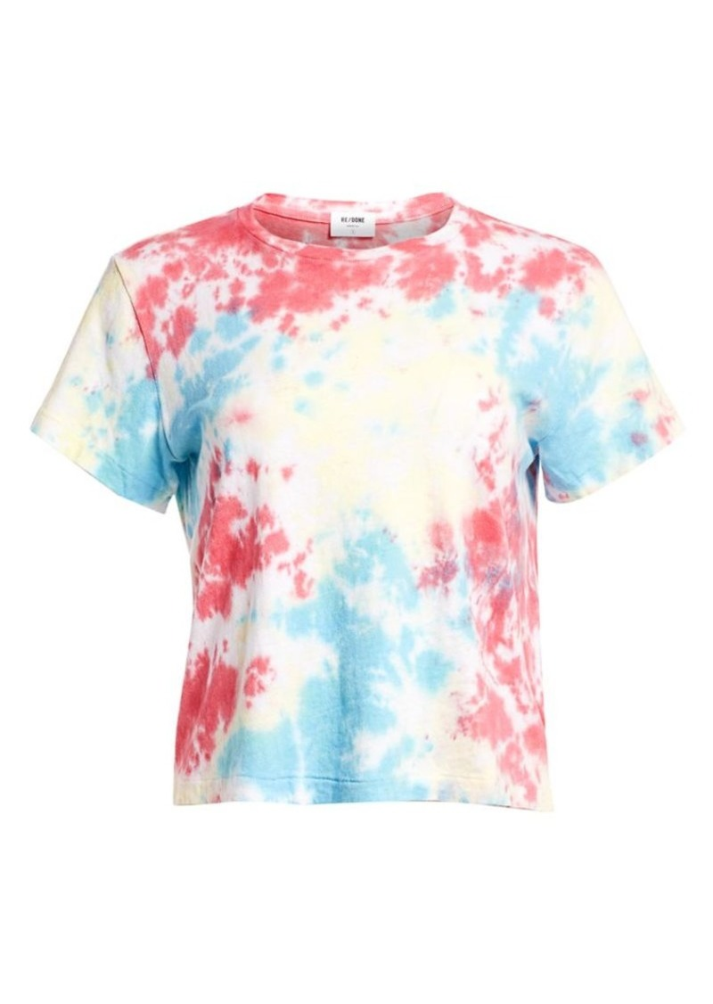 Re/Done Tie Dye Graphic Tee