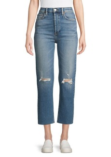 Re/Done Ultra High-Rise Distressed Jeans