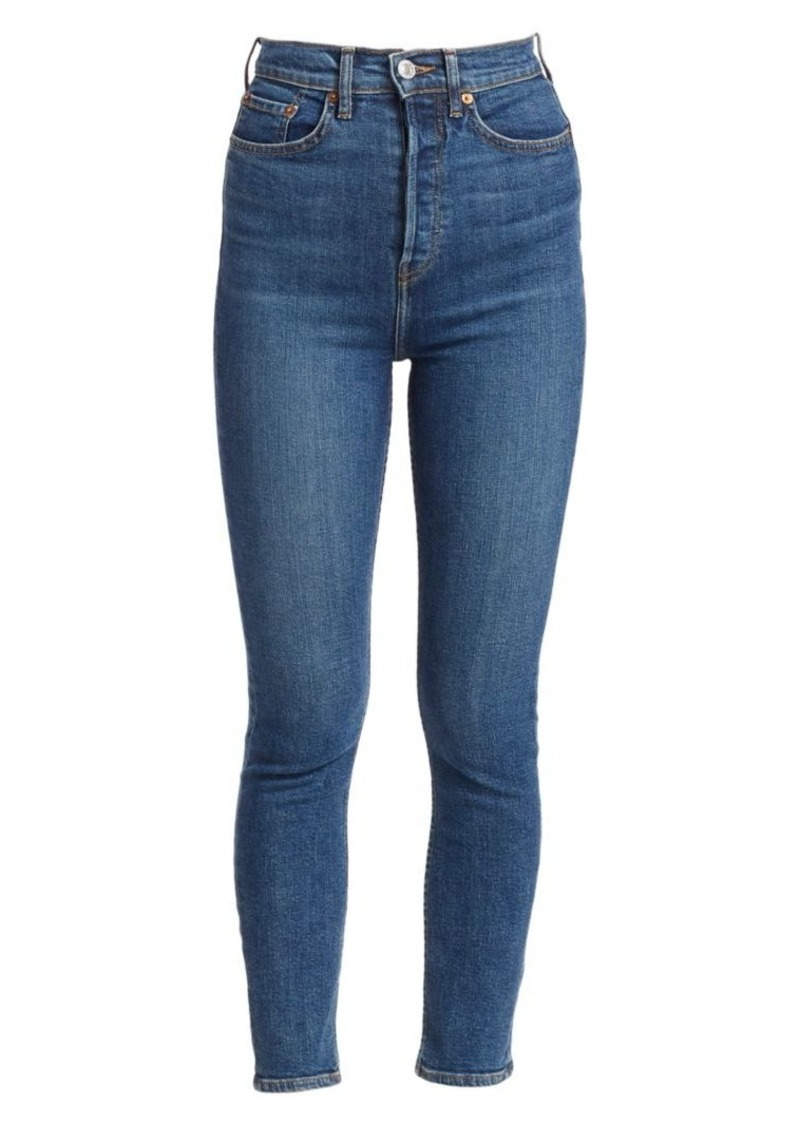 Re/Done Ultra High-Rise Stretch-Skinny Jeans