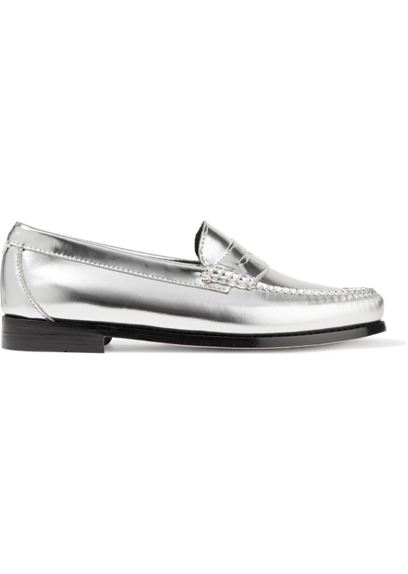 e7b4f92c3 Re Done Weejuns The Whitney Metallic Leather Loafers