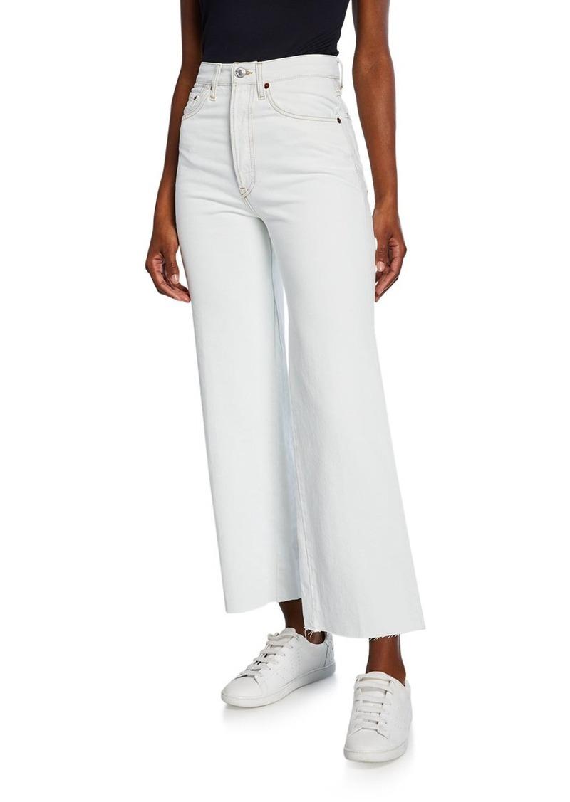 Re/Done Wide-Leg Crop Denim Jeans